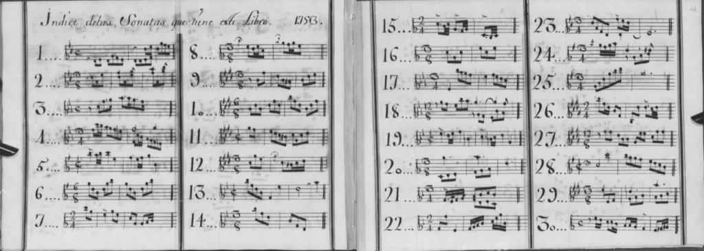 Domenico Scarlatti's musical scores